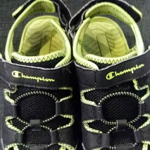 Champion Shoes - Boys Champion Green and black summer shoes sandals